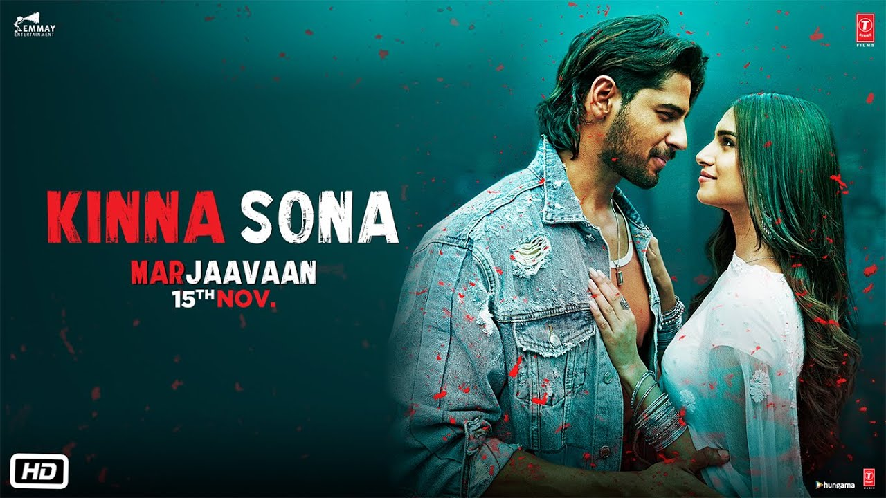 KINNA SONA LYRICS - MARJAAVAAN | Sidharth Malhotra,Meet Bros | Lyrics Over A2z
